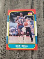 1986/87 Fleer Basketball Isiah Thomas #109 Rookie RC Sharp! PSA READY