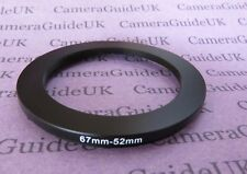 67mm to 52mm Male-Female Stepping Step Down Filter Ring Adapter 67mm-52mm UK