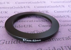 67mm to 52mm Male-Female Stepping Step Down Filter Ring Adapter 67mm-52mm