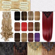 8 Tressen Haarverlängerung Clip in Wellig Blond Haarteil Hair Extensions Gewellt