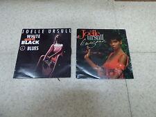 lot de 2 disques 45 tours de Joëlle Ursull : white and black - Amazone - CBS
