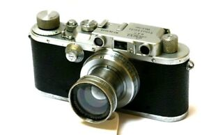 Yr.1937 Leitz Leica IIIA Chrome 35mm Film Camera With Summar 50/2.0 Lens  CLA