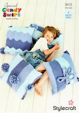 Stylecraft 9412 Knitting Pattern Various Cushion Covers in Special Candy Swirl