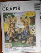 "UNCUT McCall's Sewing Pattern #8087 Primitive Bunny Dolls 16"" Tall Country Decor"