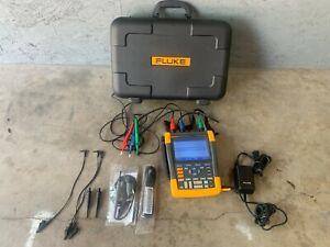 Fluke 190-204 Portable Oscilloscopes $ Channelw/ Probe Set W/Case & Accessories