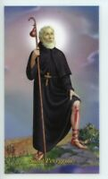 St. Peregrine - Prayer - Relic Laminated Holy Card - Blessed by Pope Francis
