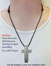 Voice Recorder Necklace -15 Hrs Capacity Audio Spy USB Mini 8GB NEW