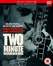 Two Minute Warning  [1976]   (Blu-Ray / DVD )  ***Brand New*** Charlton Heston