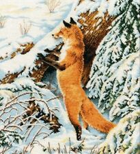 NEW UNOPENED Russian Counted Cross Stitch Kit OVEN 975 Red huntress Fox