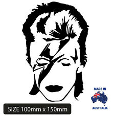 David Bowie Car sticker Decal Remembrance in black