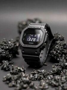NEW G-SHOCK. Men's Watch Military Black Resin Strap Digital Watch DW5600BB-1
