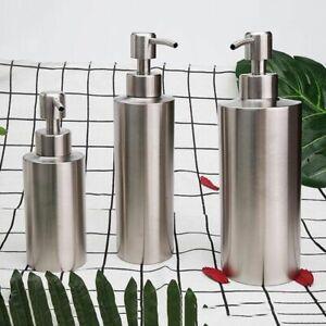 Kitchen Soap Dispenser 250/350/550ml Stainless Steel Shampoo Lotion Pump Bottles