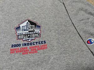 Pro Football Hall of Fame Induction 2000 t-shirt Joe Montana Ronnie Lott Howie