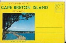 cape breton island, nova scotia postcard booklet 1960s era