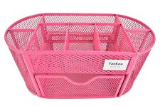 Desk Supplies Organizer Caddy Pen Pencil Holder - PINK -BM