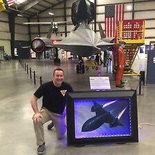 SR-71 Blackbird Aluminum frame, silk poster & LED lighting system NASA AirForce