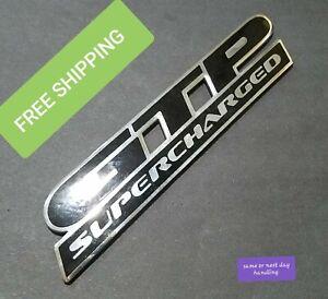"""Bin28 2001 Pontiac Grand Prix Rear Trunk Lid Emblem Logo OEM """"GTP SUPER CHARGED"""""""