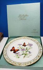 Lenox china Butterflies & Flowers collector plate #1 Questionmark & Astor W/ Box