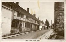 Cerne Abbas Abbey Street TUCK Real Photo Postcard