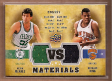 2009-10 UD VS Dual Materials Basketball Card #VSMK Bernard King/Kevin McHale