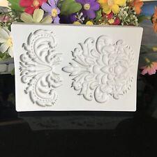 Vintage Relief Lace Baroque Silicone Fondant Mould Cake Decor Craft Border Mold