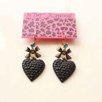 New Betsey Johnson Heart Drop Dangle Earrings Gift Fashion Women Party Jewelry