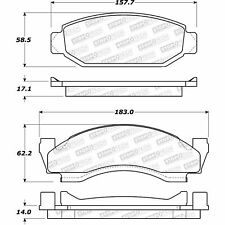 Disc Brake Pad Set-Rear Drum Front Stoptech 308.00501