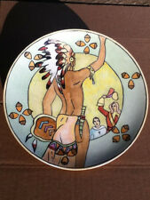 SIGNED 1932 Nippon Noritake Native American Indian Hand Painted Stunning