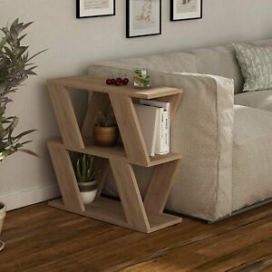 Modern Side Sofa Couch Small End Table Rustic Coffee Narrow Slim Furniture