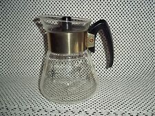 Vtg. Corning Glass Carafe - Golden Starburst Pattern