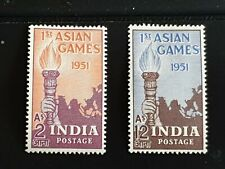 India 1951 First Asian Games Set SG335/6 MM
