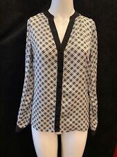 T.M. LEWIN Women's Black/White Polyester Shirt UK 12