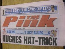 09/02/2002 COVENTRY evening Telegraph il rosa: principali titolo recita: Hughes Cappello -