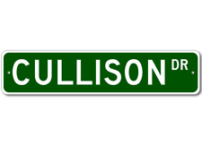 CULLISON Street Sign - Personalized Last Name Sign