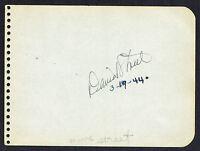 David Street (d. 1971) signed autograph 4x5 Album Page 1940-50's Actor & Singer