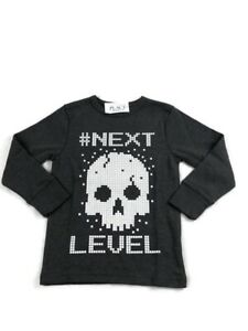 The Childrens Place Kids Long Sleeve Gray #NextLevel Shirt Size-XS 4 (b1)