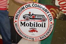 Large Mobil Mobiloil Gargoyle Motor Oil Gas Station 24