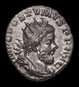 Postumus. Romano-Gallic Emperor, AD 260-269. Silver Antoninianus, Victory