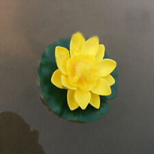 10cm Artificial Lotus Water Lily Floating Flower Pond Fish Tank Plant Yard Decor