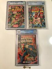Marvel Super-Heroes #13 & Ms. Marvel #1 & 18 CGC 9.8 1st Carol Danvers & Raven