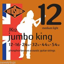 ROTOSOUND Jumbo King jk12 PHOS Bronzo 12-54 MEDIUM LIGHT acoustic guitar Strings