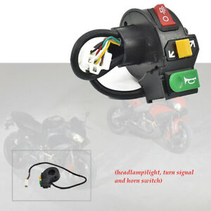 "1pcs 7/8"" 12V Motorcycle Scooter Headlight Turn Signal Horn Handlebar Switch"