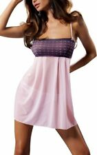 Xlarge #18r451 Casmir Muna Ladies Chemise Night Dress And Thong Pink Large