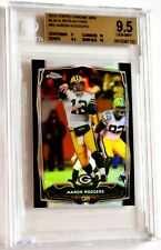 BGS 9.5 Gem Mint AARON RODGERS 2014 Topps Chrome Mini SP Black Prizm /15 Packers