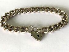 "Vintage heavy silver chain charm bracelet. Length 7 1/2""   38 gr"