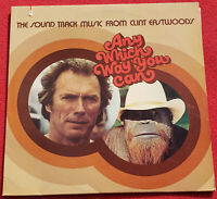 1980 Any Which Way You Can Soundtrack LP Clint Eastwood, Ray Charles Fats Domino