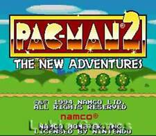 Pac-Man 2 - SNES Super Nintendo Game Pacman