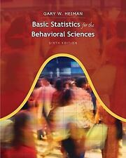 Basic Statistics for the Behavioral Sciences, 6th Edition Hardcover - Like New