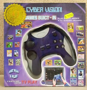 CYBER VISION PLUG & PLAY 4 TV SYSTEM OPTION CONTROLLER NEW GAME BUILT -IN GAMES