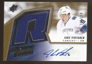 JAKE VIRTANEN 2015-16 SPx Rookie Retro Auto Jersey #162/299 Vancouver Canucks
